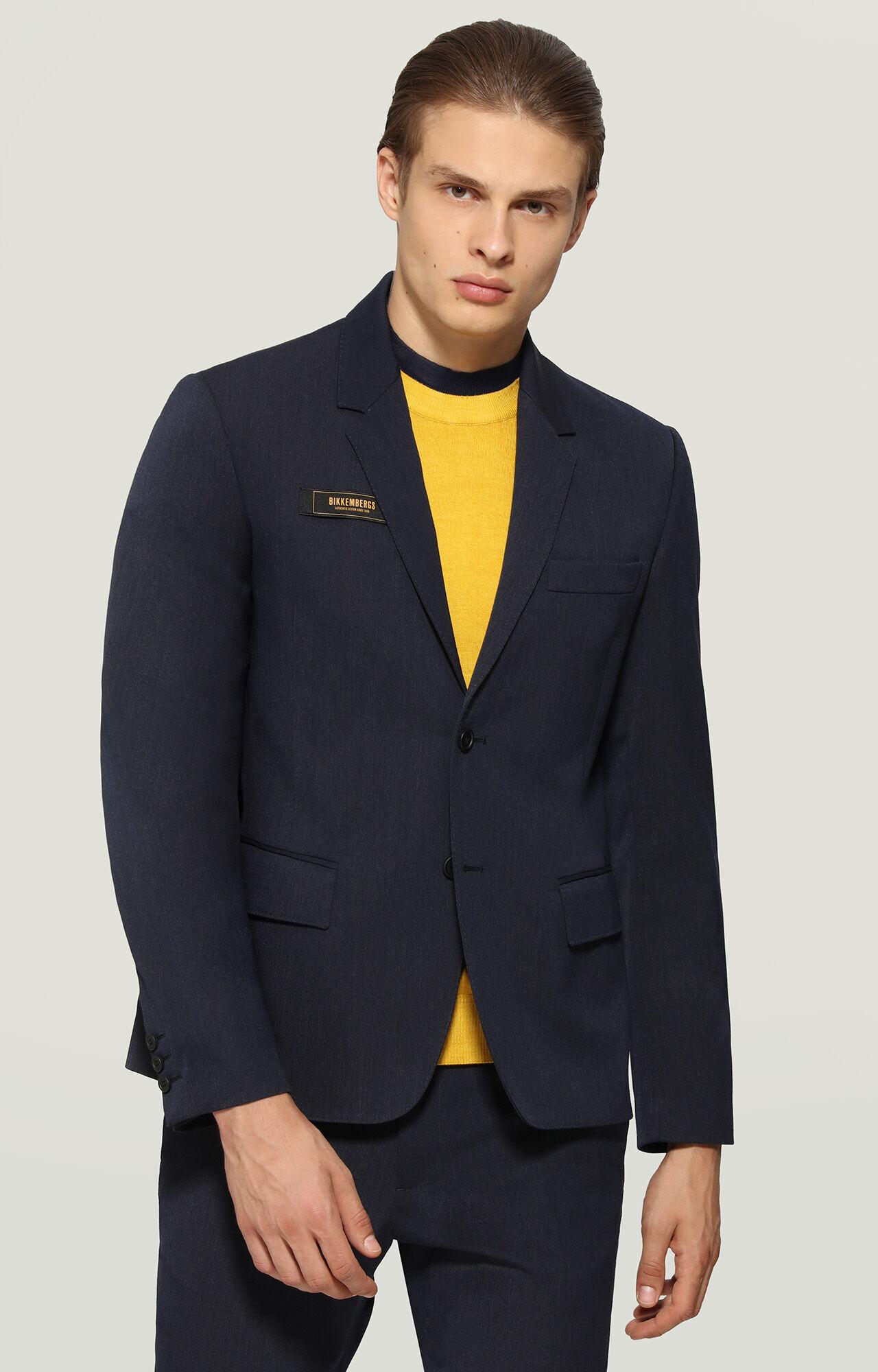 giacca blu uomo fresco lana