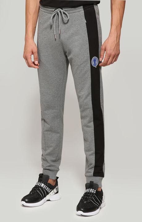 FLEECE PANTS, Grey Melange/Black, hi-res-1