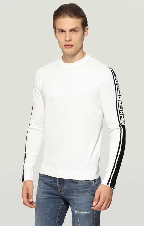SWEATER, White/Black, hi-res-1
