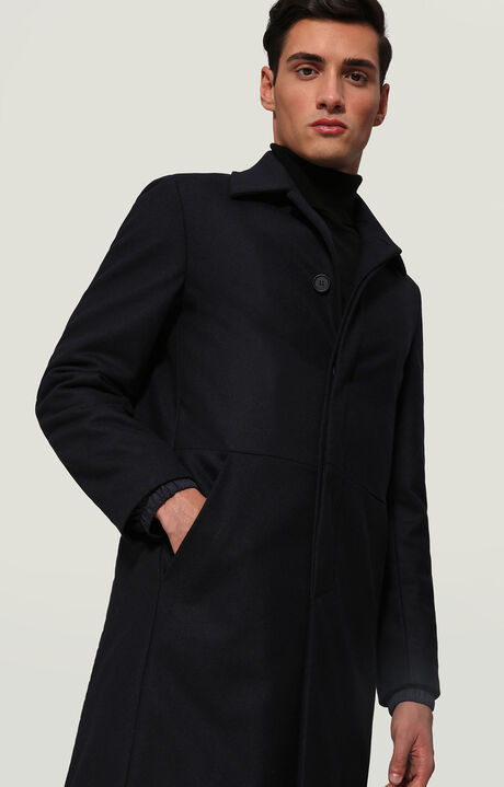 OVERCOAT WITH K QUILTING, BLUE, hi-res-1
