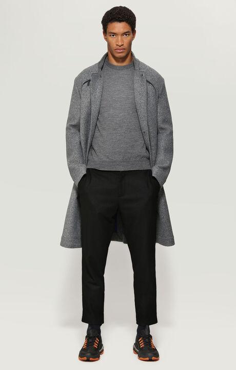 SWEATER, Gris Mélangé/Noir/Blanc, hi-res-1