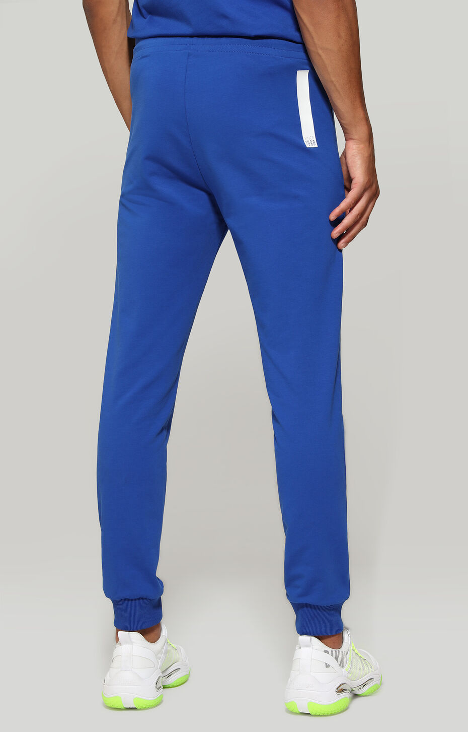 FLEECE PANTS, Bluette/White, hi-res-1