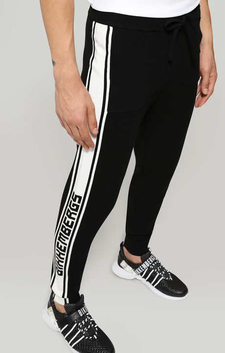 TROUSERS, Black/White, hi-res-1