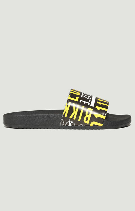 PUPINO PRINT BAND SLIPPER, BLACK, hi-res-1